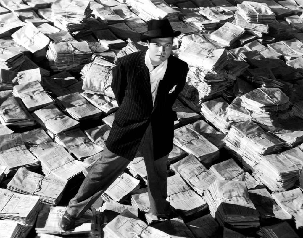 still: Orson Welles, Citizen Kane (1941)
